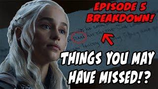 Things You MAY Have Missed?! Game Of Thrones Season 7 Episode 5 BREAKDOWN Eastwatch