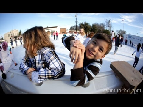 EvanTubeHD goes Ice Skating - FALLS and FAILS!