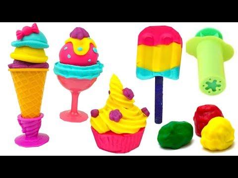 Пластилин для детей учимся лепить мороженое  Игрушкин ТВ
