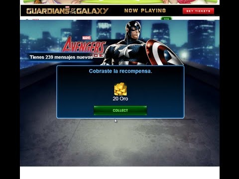 Truco para tener 20 de Oro Gratis en Marvel Avengers Alliance