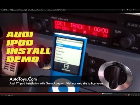 Audi TT Grom IPOD Adapter IPD3.Aux.Mp3. & Audi Concert Radio Removal Installation by AUTOTOYS.COM