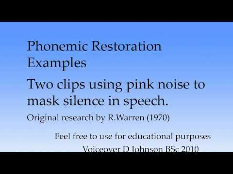 Phonemic restoration demo / examples