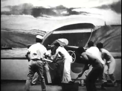 Parade of marines, U.S. cruiser