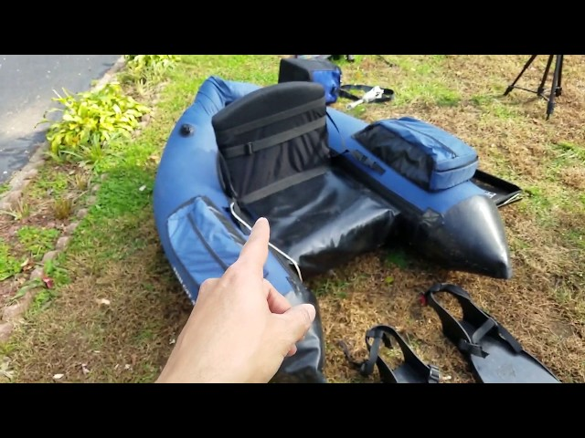 Outcast Float Tube Fish Cat 4 FULL REVIEW  How to Replace the Air Bladder !!