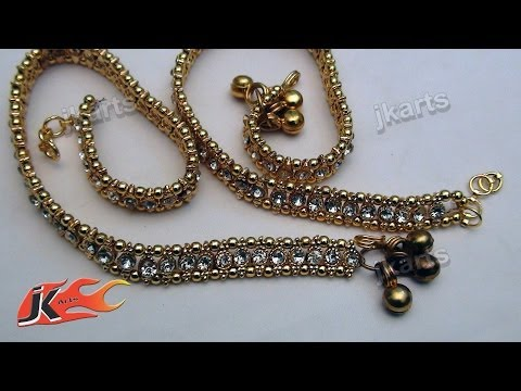 how to make silk thread anklets