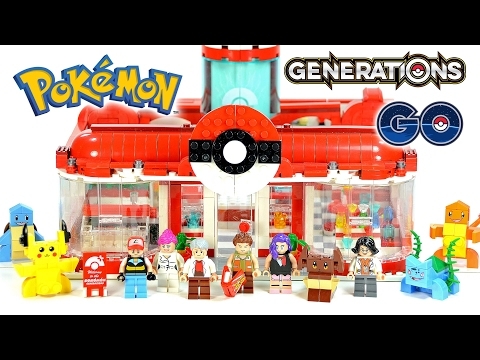 Pokémon Generations Pet Elf Center Unofficial LEGO Set DeCool w/ Pikachu Charmander & Bulbasaur