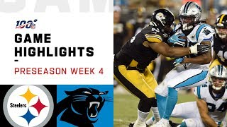 Steelers vs. Panthers Preseason Week 4 Highlights | NFL 2019