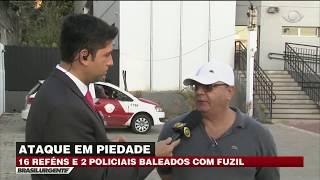 SP: Bandidos fazem reféns e atiram contra policiais