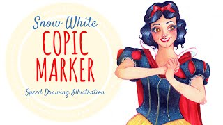 Copic Marker Drawing Snow White