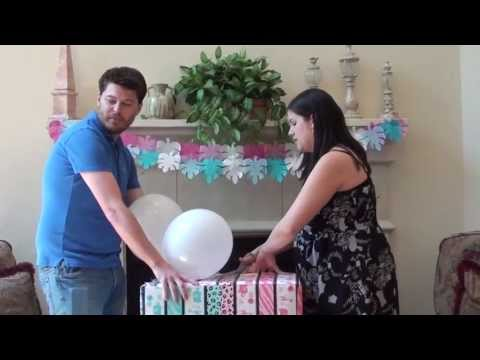 Gender Reveal with Balloon Box