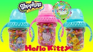 BEST LEARN COLORS with Hello Kitty Winnie the Pooh Chocolate Lentils Cup Surprises