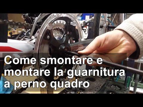 Come smontare e montare la guarnitura a perno quadro della bici TUTORIAL