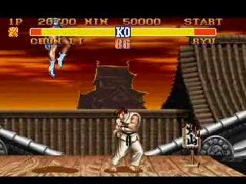 Street Fighter II Chun Li VS Ryu
