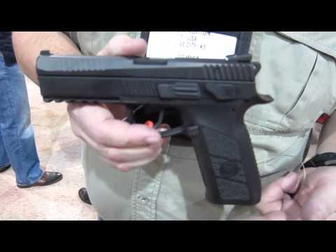 CZ PO9 Polymer frame pistol at SHOT Show 2013