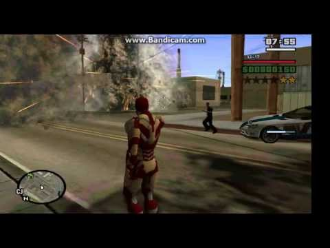 gta san andreas iron man repulsor mod part 2