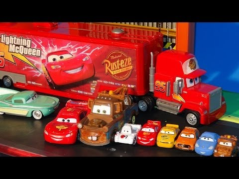 Play Doh Surprise Eggs in Pixar Cars Lightning McQueen with The Haulers  and Maters Surprise Birthda