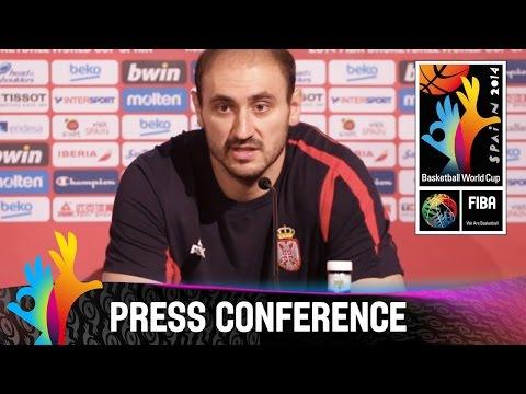Serbia - Semi Final - Pre-game Press Conference - 2014 Fiba Basketball World Cup video