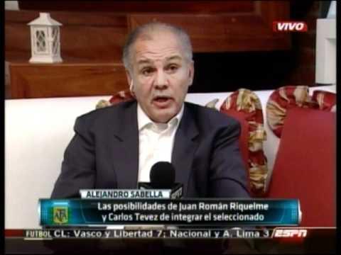Alejandro Sabella habla de Riquelme y Tevez