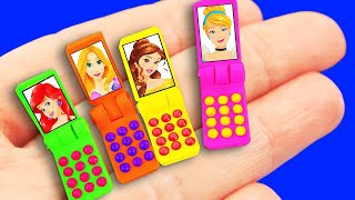 5 MINUTE DIY BARBIE HACKS! 14 CRAFTS : miniature phone, Washing Machine, and more!!