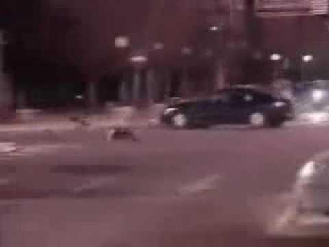 gece oluşan bir motorsiklet kazası
