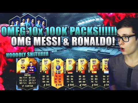 FIFA 16: PACK OPENING (DEUTSCH) - FIFA 16 ULTIMATE TEAM - OMFG 10x 100K PACKS! MESSI & RONALDO!!!
