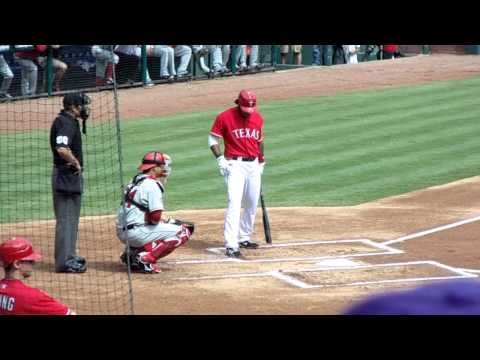 Elvis Andrus Flies Out To Left Field - Last Texas Rangers Home Game of Season vs Angels