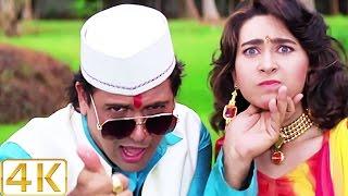 A Aa Ee O O O - 4K Ultra HD Video Song   Karisma Kapoor & Govinda   Raja Babu