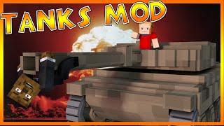 EXPLOSIVE TANK FIGHT Mod!? | Minecraft - Mod Battle