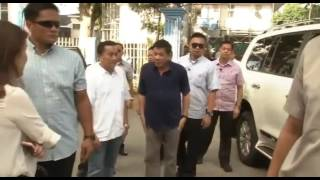 President Duterte Attends Wake of Former Tagaytay City Mayor Isaac Tolentino