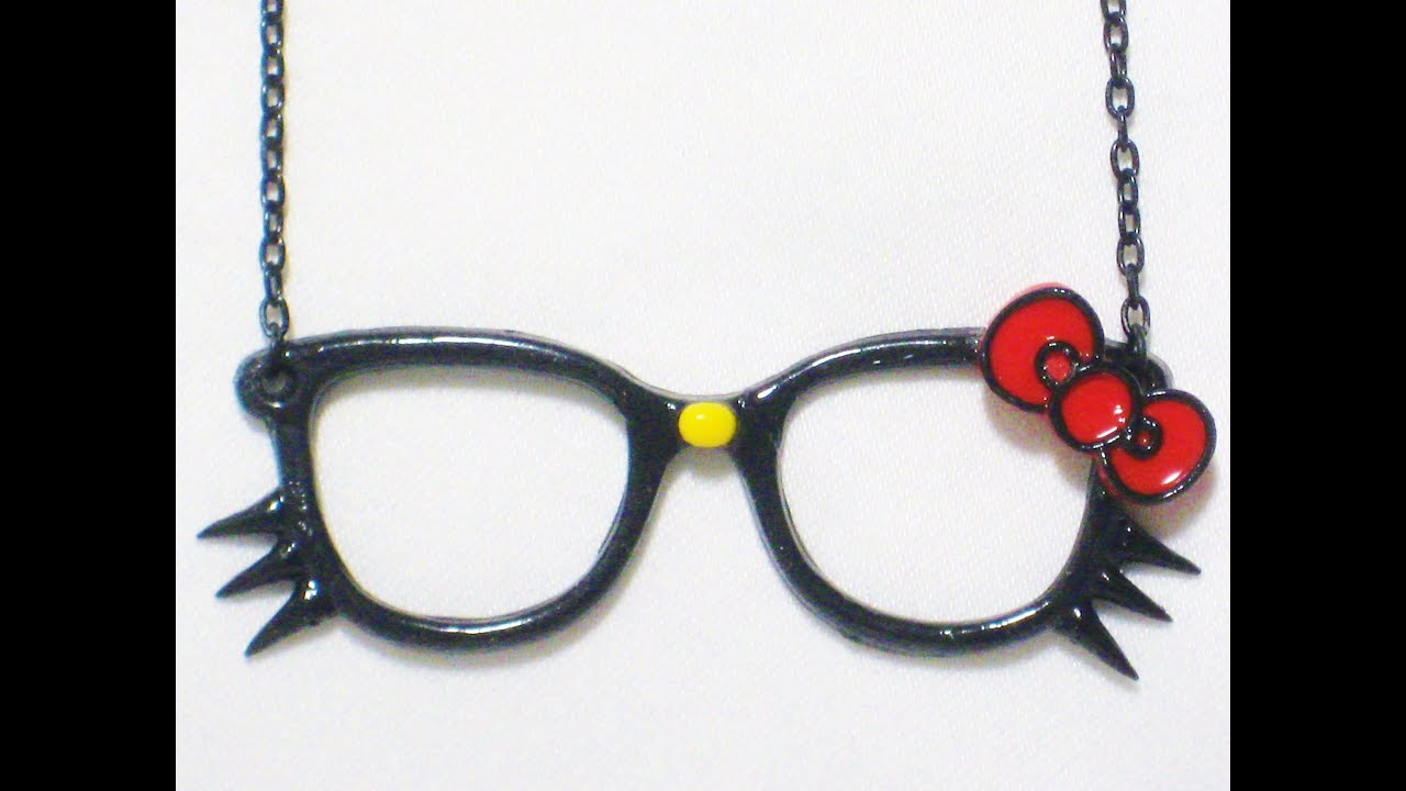 Hello Kitty With Glasses Drawings
