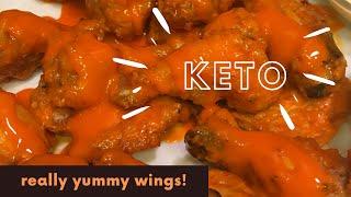 Keto Spicy Buffalo Chicken Wings- Dollar Tree Wing Sauce