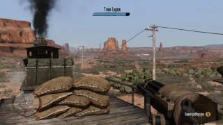 Red Dead Redemption - Mexican Caesar: Train Gatling Gun Rebels Combat 'That Was Madness' Xbox One