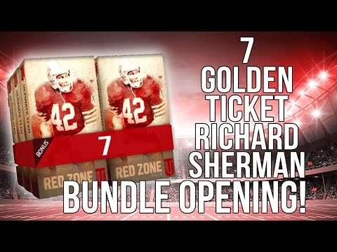 Golden TIcket Richard Sherman Bundle Opening!(Redzone Packs::-XBOX ONE Madden 16 Ultimate Team