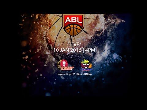 Singapore Slingers vs Pilipinas MX3 Kings   ASEAN Basketball League 2015-2016