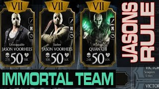 Jason Voorhees Slasher and Unstoppable MAXED OUT! Characters review (Mortal Kombat X Mobile)