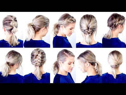 10 CUTE & EASY LOW PONYTAIL HAIRSTYLES | Milabu - YouTube