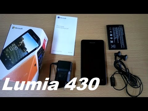 Microsoft Lumia 430 Unboxing and quick review - dual sim (Nokia Lumia 430)