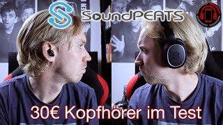 Soundpeats Bluetooth Kopfhörer im Test - Günstige Einsteiger [Deutsch/German]