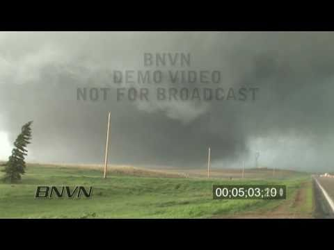 5/22/2010 Bowdle, SD tornado outbreak stock video
