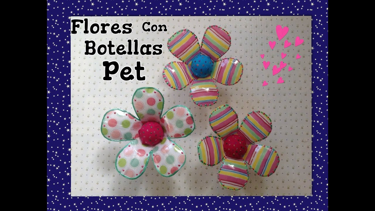 Flores hechas con botellas pet cubiertas con tela pet for Adornos con botellas para plantas