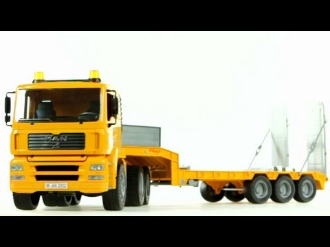 MAN TGA Low Loader Truck (Bruder 02775) - Muffin Songs' Toy Review
