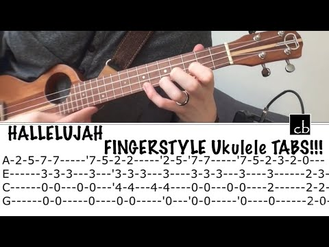 HALLELUJAH Fingerstyle Ukulele TUTORIAL