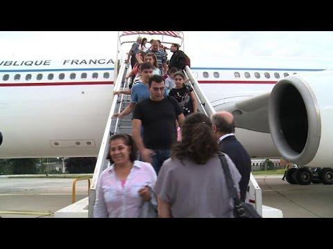 Arrivée en France de 40 réfugiés en provenance d'Irak