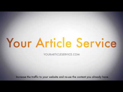 0 Article to Video Services   Video Articles Created For You