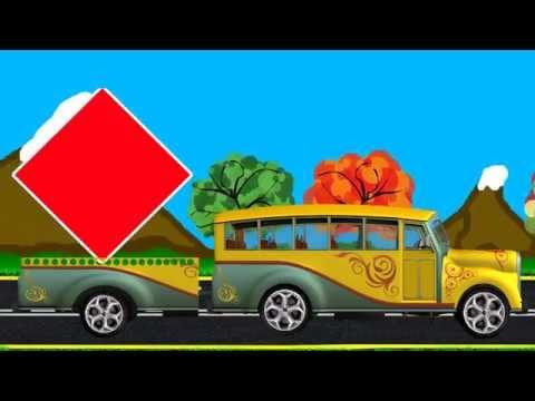 МУЛЬТИК про Машинки. Учим Фигуры и Цвета. Развивающие мультфильмы для детей.