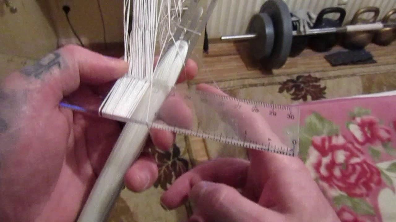 Вязание сетей на планке