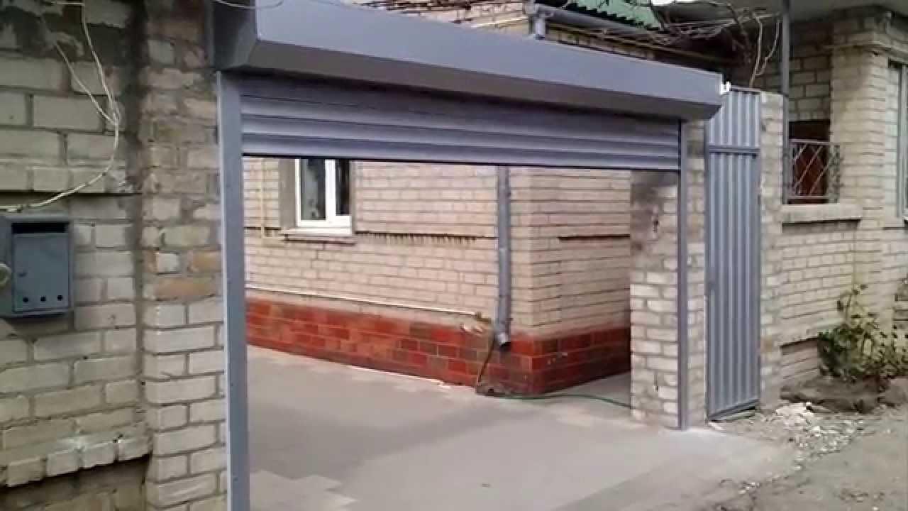 Установка роллетных ворот видео