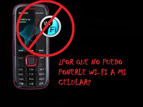 ¿Por que no puedo ponerle WI-FI a mi celular?
