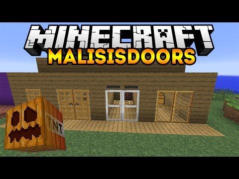 Потайные Проходы или Как Обустроить Дом (MALISISDOORS) - Обзор модов Minecraft # 82