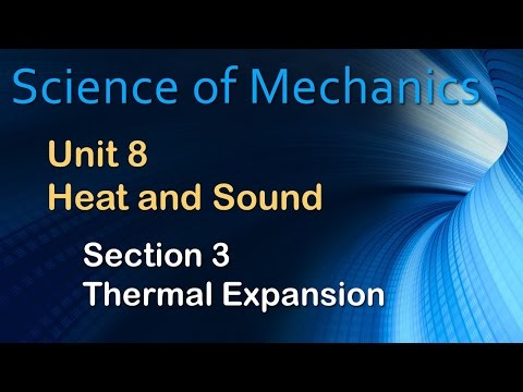 Thermal Expansion Section 8.3 – Science of Mechanics